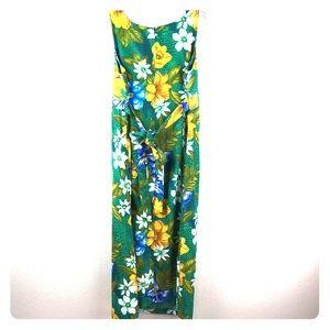 Sag Harbor Dress Floral Hawaiian Maxi 14W